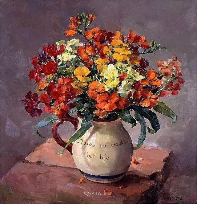 静物花卉,英国画家安妮·科特里尔插图31