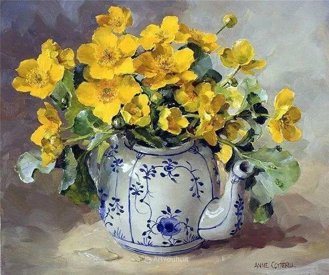 静物花卉,英国画家安妮·科特里尔插图33