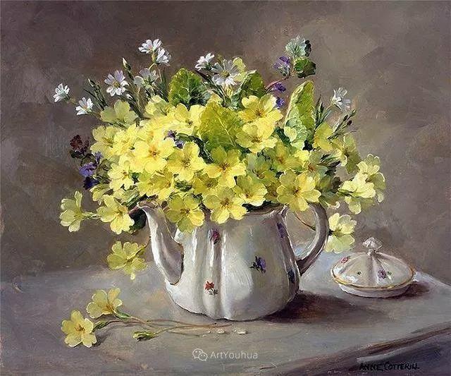 静物花卉,英国画家安妮·科特里尔插图35