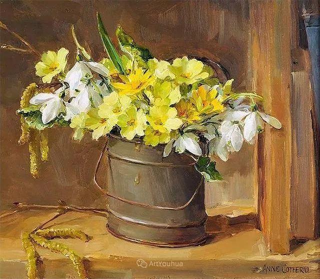 静物花卉,英国画家安妮·科特里尔插图43