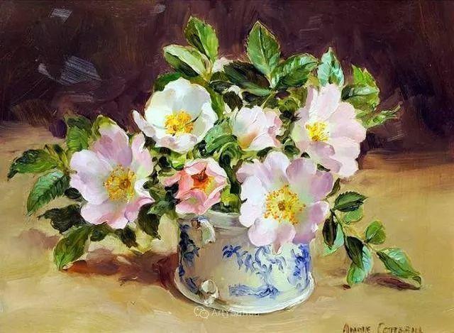 静物花卉,英国画家安妮·科特里尔插图47
