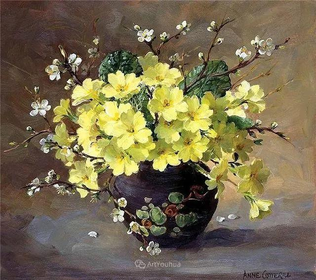 静物花卉,英国画家安妮·科特里尔插图49