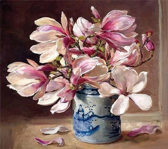 静物花卉,英国画家安妮·科特里尔插图51
