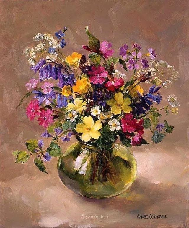 静物花卉,英国画家安妮·科特里尔插图55