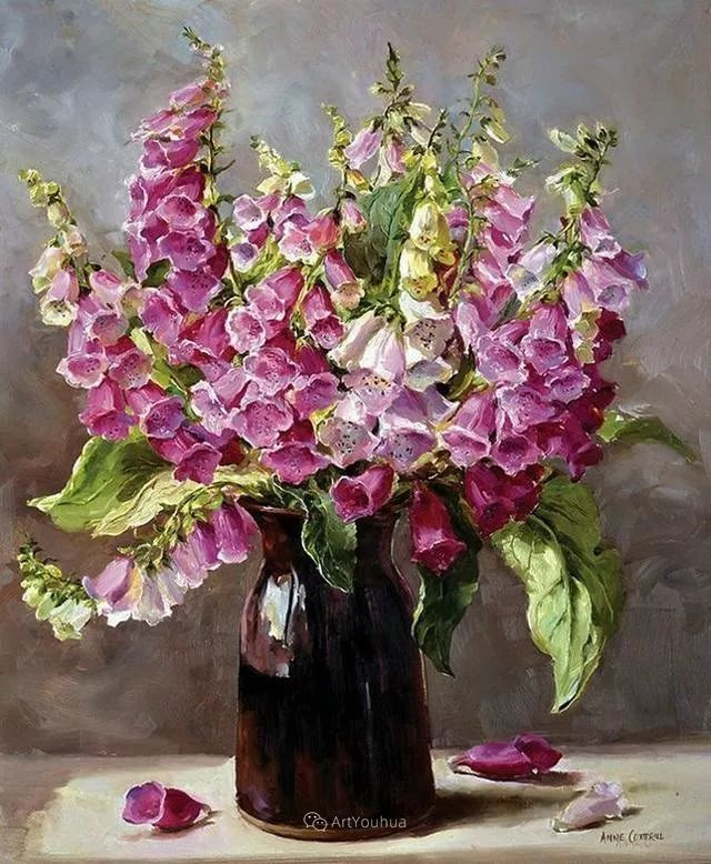 静物花卉,英国画家安妮·科特里尔插图57
