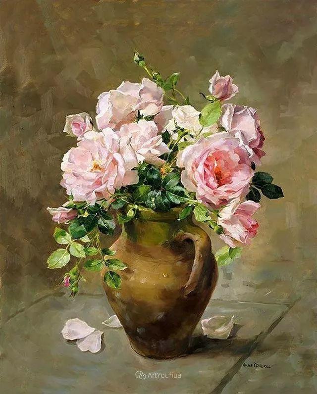 静物花卉,英国画家安妮·科特里尔插图59