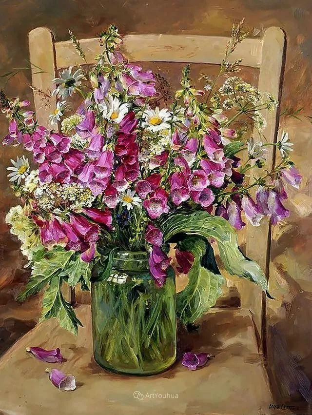 静物花卉,英国画家安妮·科特里尔插图61