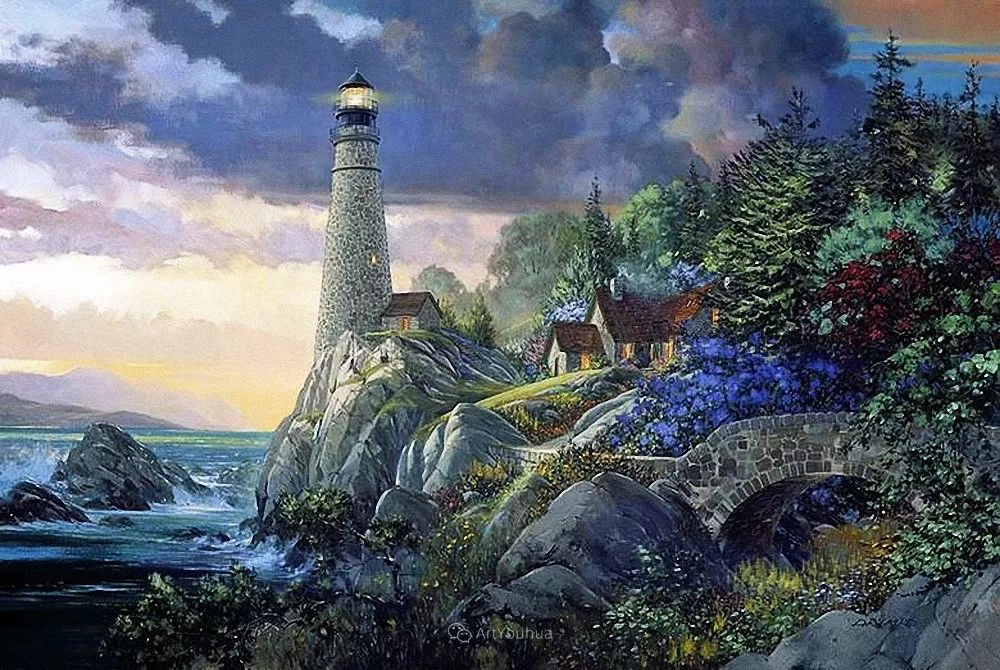 海景画,苏格兰画家道格拉斯·莱尔德插图3