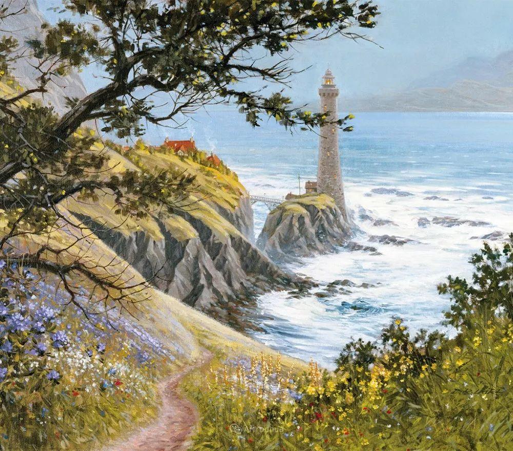 海景画,苏格兰画家道格拉斯·莱尔德插图5