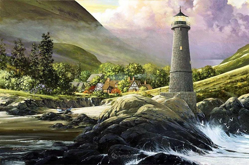 海景画,苏格兰画家道格拉斯·莱尔德插图7
