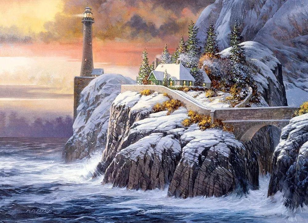 海景画,苏格兰画家道格拉斯·莱尔德插图13
