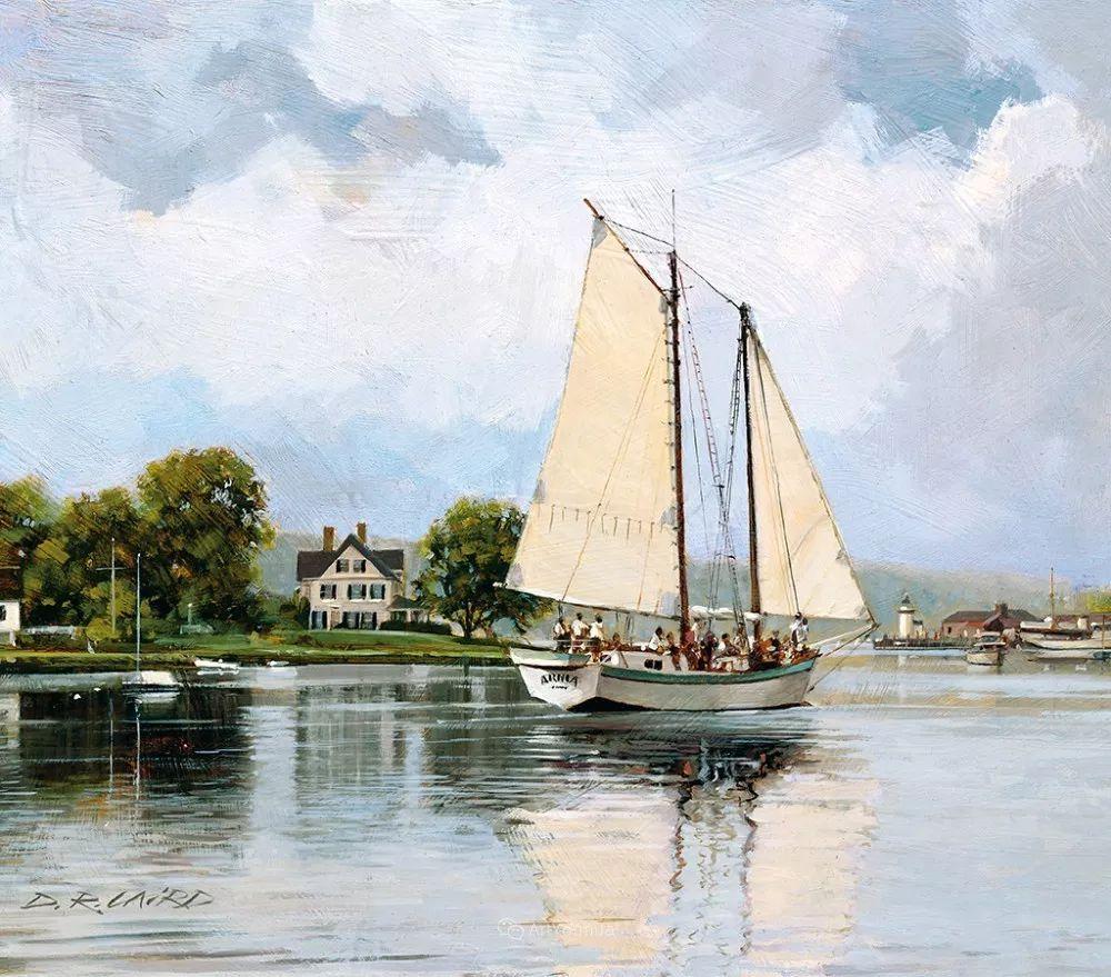 海景画,苏格兰画家道格拉斯·莱尔德插图27