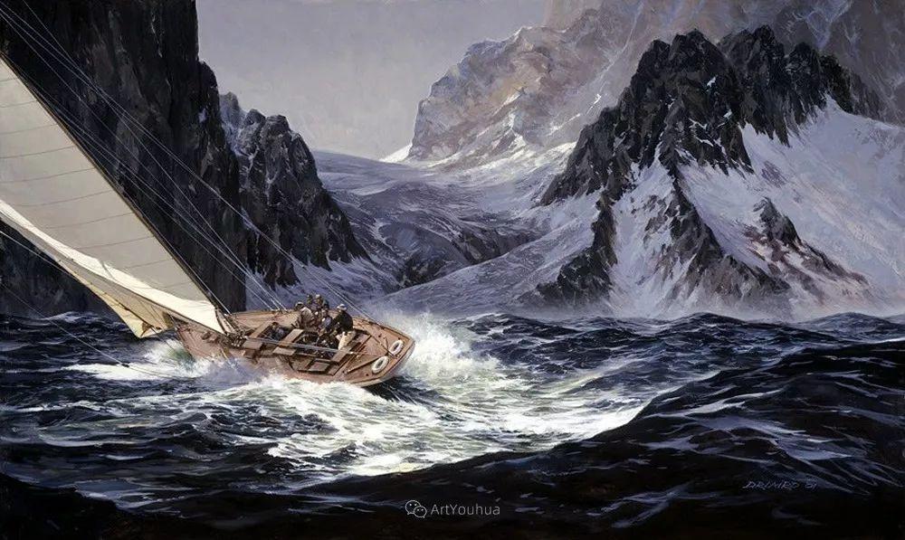 海景画,苏格兰画家道格拉斯·莱尔德插图31