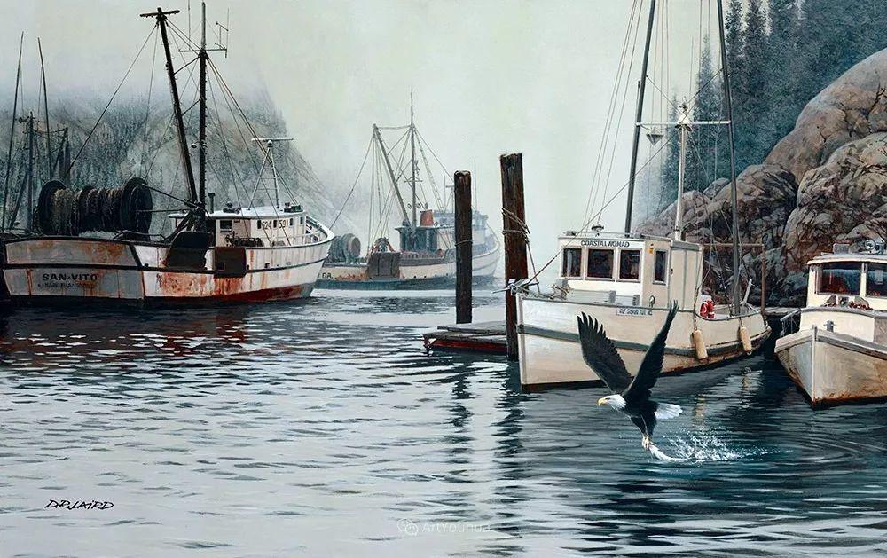 海景画,苏格兰画家道格拉斯·莱尔德插图37