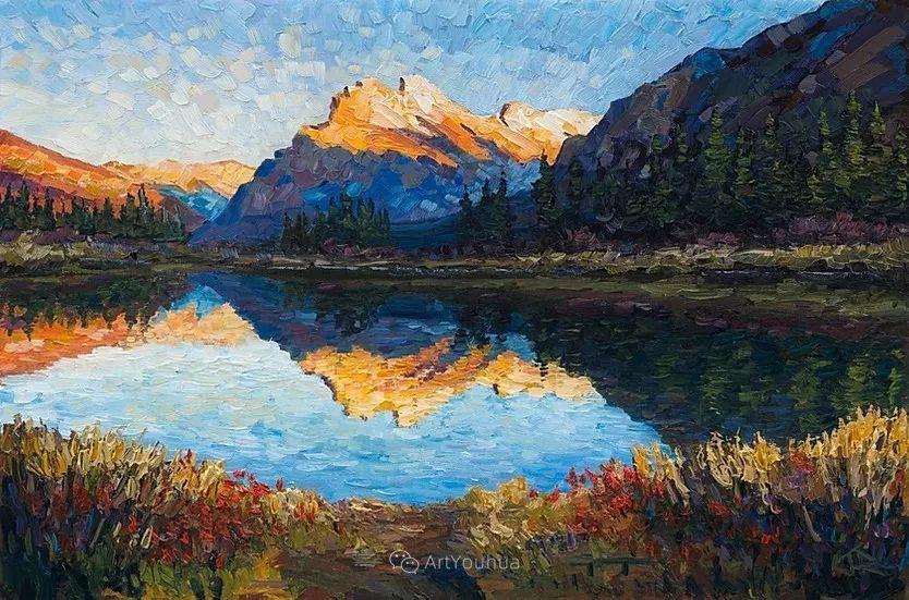 令人沉醉,唯美壮丽印象派风景油画,加拿大画家Joe Reimer插图23