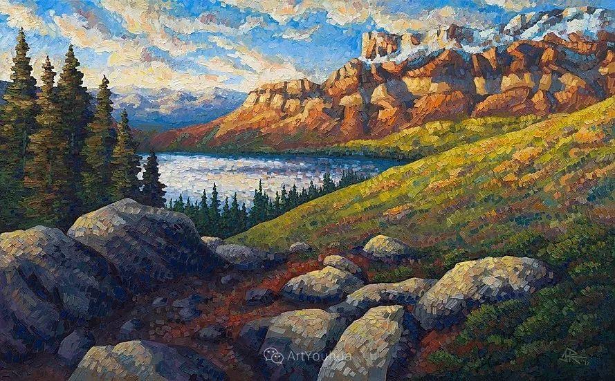 令人沉醉,唯美壮丽印象派风景油画,加拿大画家Joe Reimer插图57