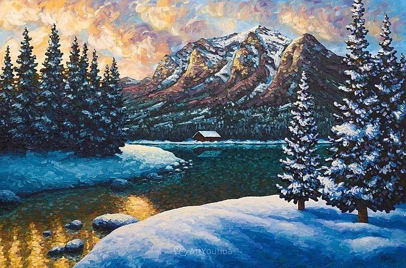 令人沉醉,唯美壮丽印象派风景油画,加拿大画家Joe Reimer插图75