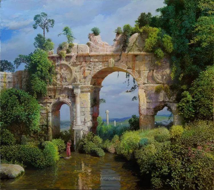 梦幻写实风景,俄罗斯画家亚历山大·赛义多夫作品二插图1