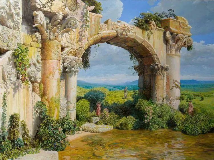 梦幻写实风景,俄罗斯画家亚历山大·赛义多夫作品二插图2