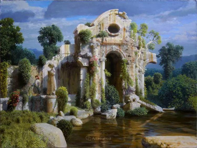 梦幻写实风景,俄罗斯画家亚历山大·赛义多夫作品二插图4