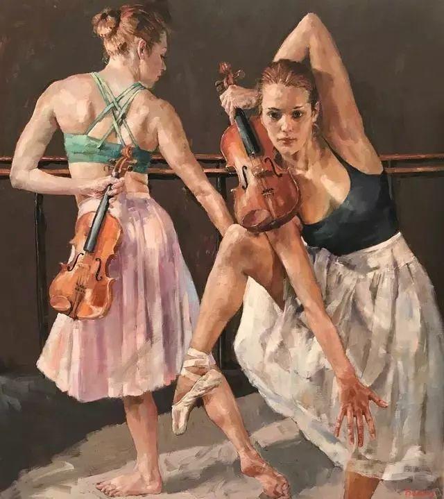 身体张力的展现,英国画家穆里尔·巴克莱插图