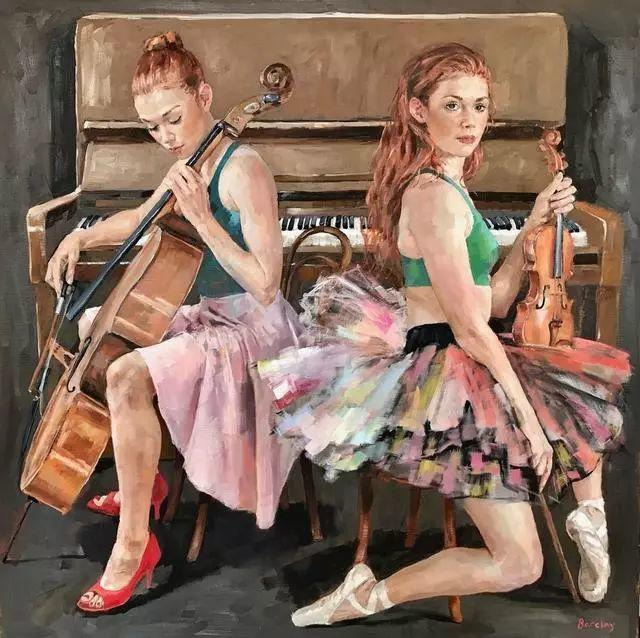 身体张力的展现,英国画家穆里尔·巴克莱插图1