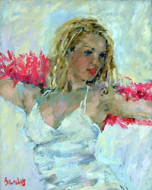身体张力的展现,英国画家穆里尔·巴克莱插图2