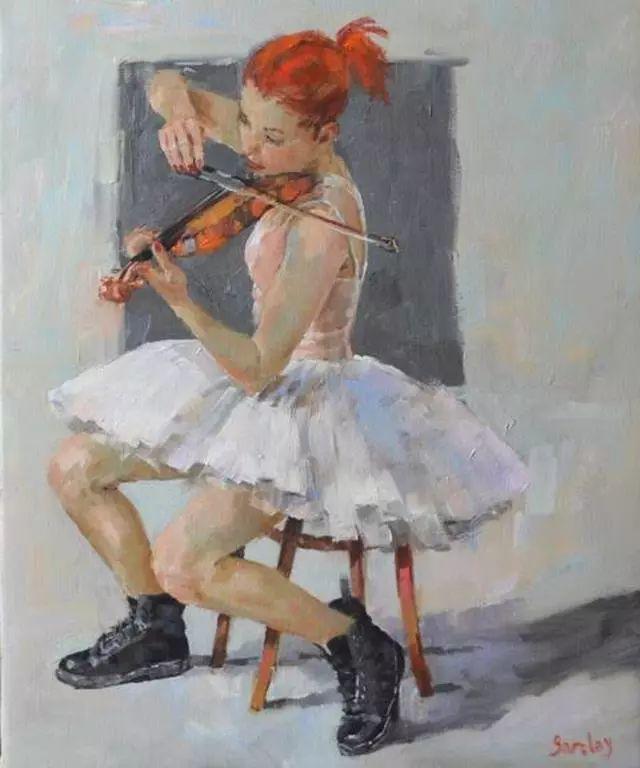 身体张力的展现,英国画家穆里尔·巴克莱插图4