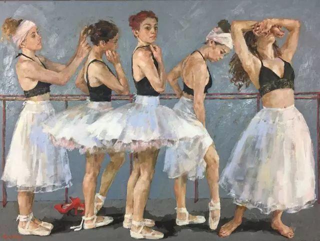 身体张力的展现,英国画家穆里尔·巴克莱插图8