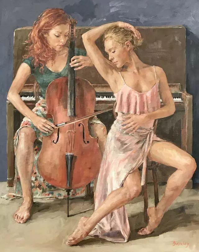 身体张力的展现,英国画家穆里尔·巴克莱插图9