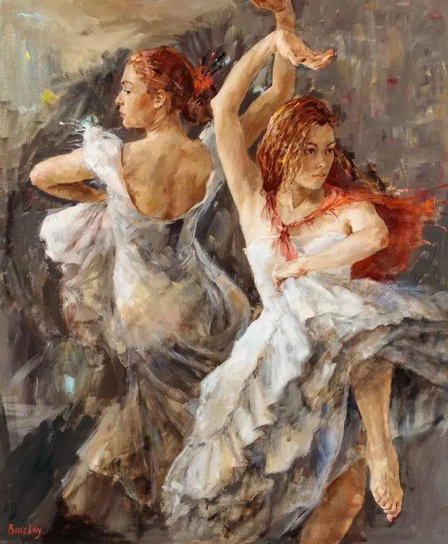 身体张力的展现,英国画家穆里尔·巴克莱插图10