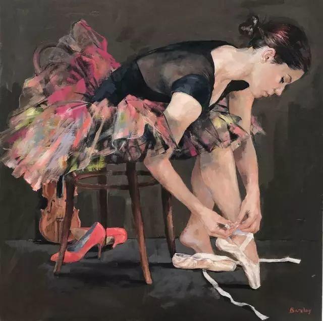 身体张力的展现,英国画家穆里尔·巴克莱插图11