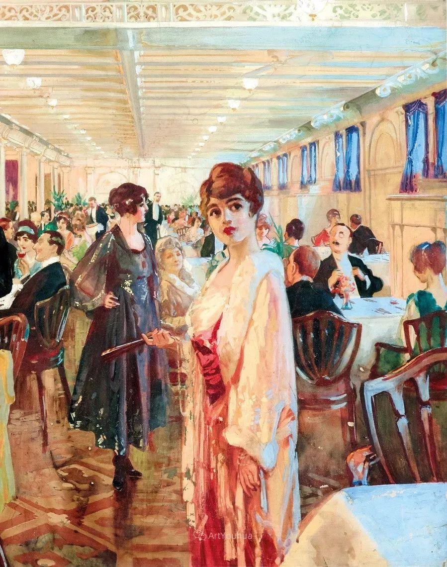 巴黎场景画,法国画家家维克多·吉尔伯特插图5