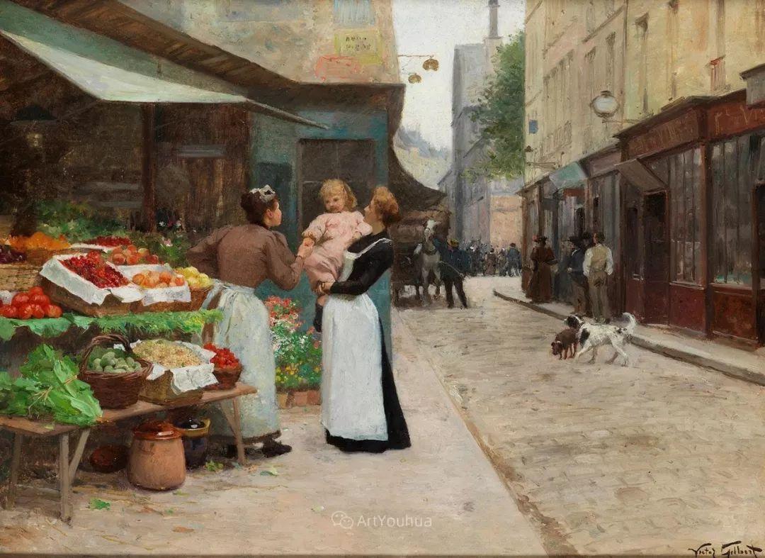 巴黎场景画,法国画家家维克多·吉尔伯特插图10