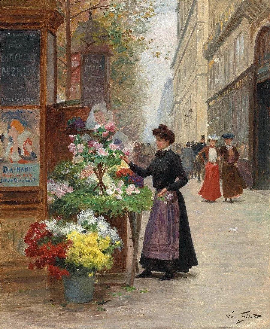 巴黎场景画,法国画家家维克多·吉尔伯特插图12