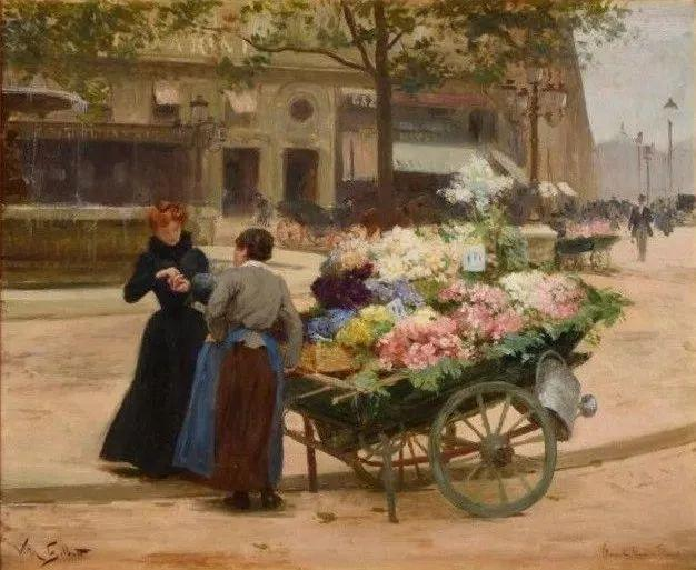 巴黎场景画,法国画家家维克多·吉尔伯特插图21