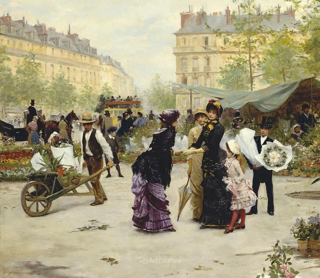 巴黎场景画,法国画家家维克多·吉尔伯特插图22