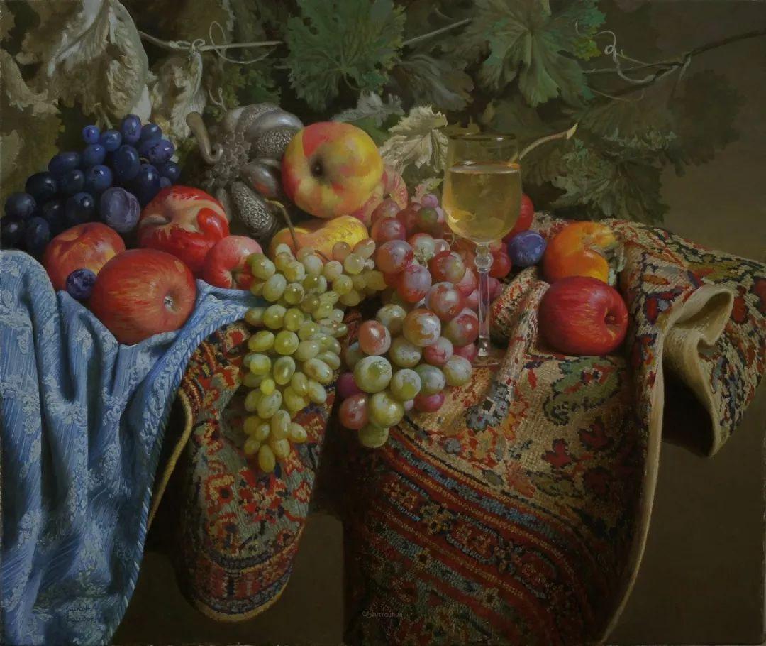 非常丰盛,静物水果!俄罗斯画家亚历山大·赛义多夫作品一插图9
