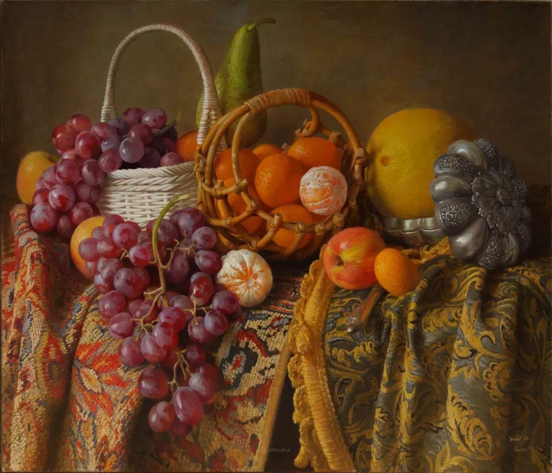 非常丰盛,静物水果!俄罗斯画家亚历山大·赛义多夫作品一插图12
