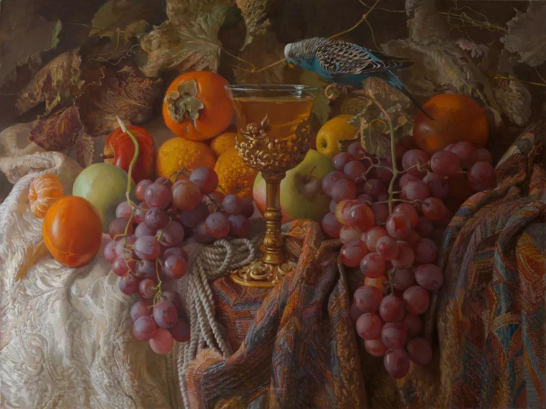 非常丰盛,静物水果!俄罗斯画家亚历山大·赛义多夫作品一插图13