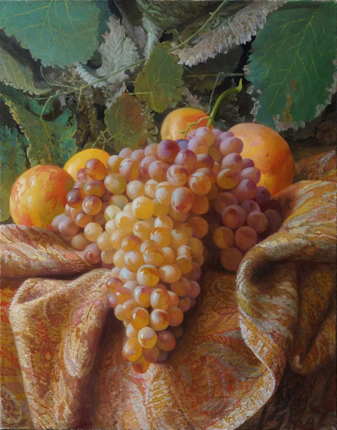 非常丰盛,静物水果!俄罗斯画家亚历山大·赛义多夫作品一插图14