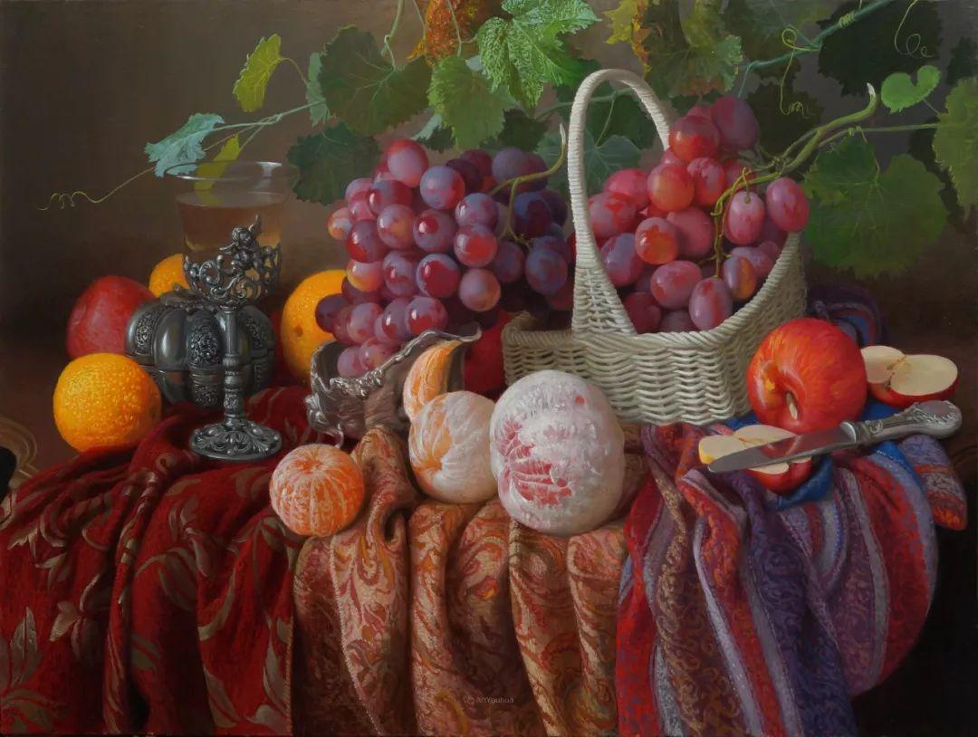 非常丰盛,静物水果!俄罗斯画家亚历山大·赛义多夫作品一插图15
