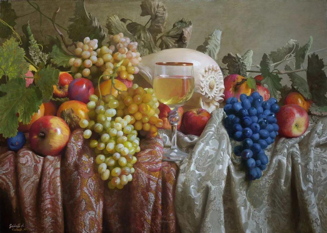 非常丰盛,静物水果!俄罗斯画家亚历山大·赛义多夫作品一插图16