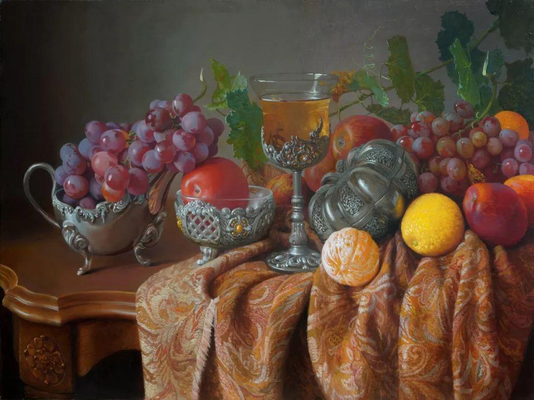 非常丰盛,静物水果!俄罗斯画家亚历山大·赛义多夫作品一插图18