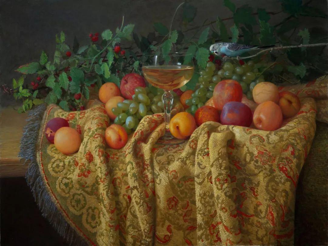 非常丰盛,静物水果!俄罗斯画家亚历山大·赛义多夫作品一插图19