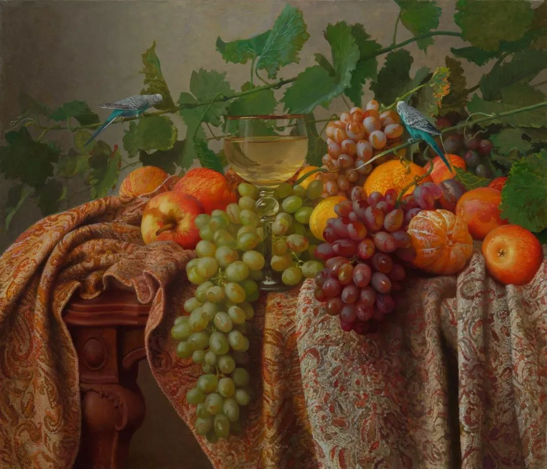 非常丰盛,静物水果!俄罗斯画家亚历山大·赛义多夫作品一插图20