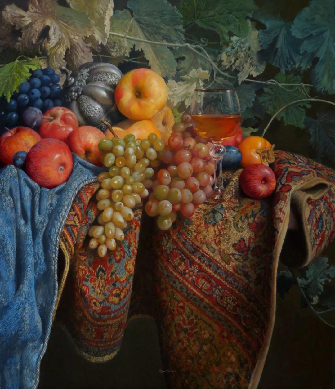 非常丰盛,静物水果!俄罗斯画家亚历山大·赛义多夫作品一插图23