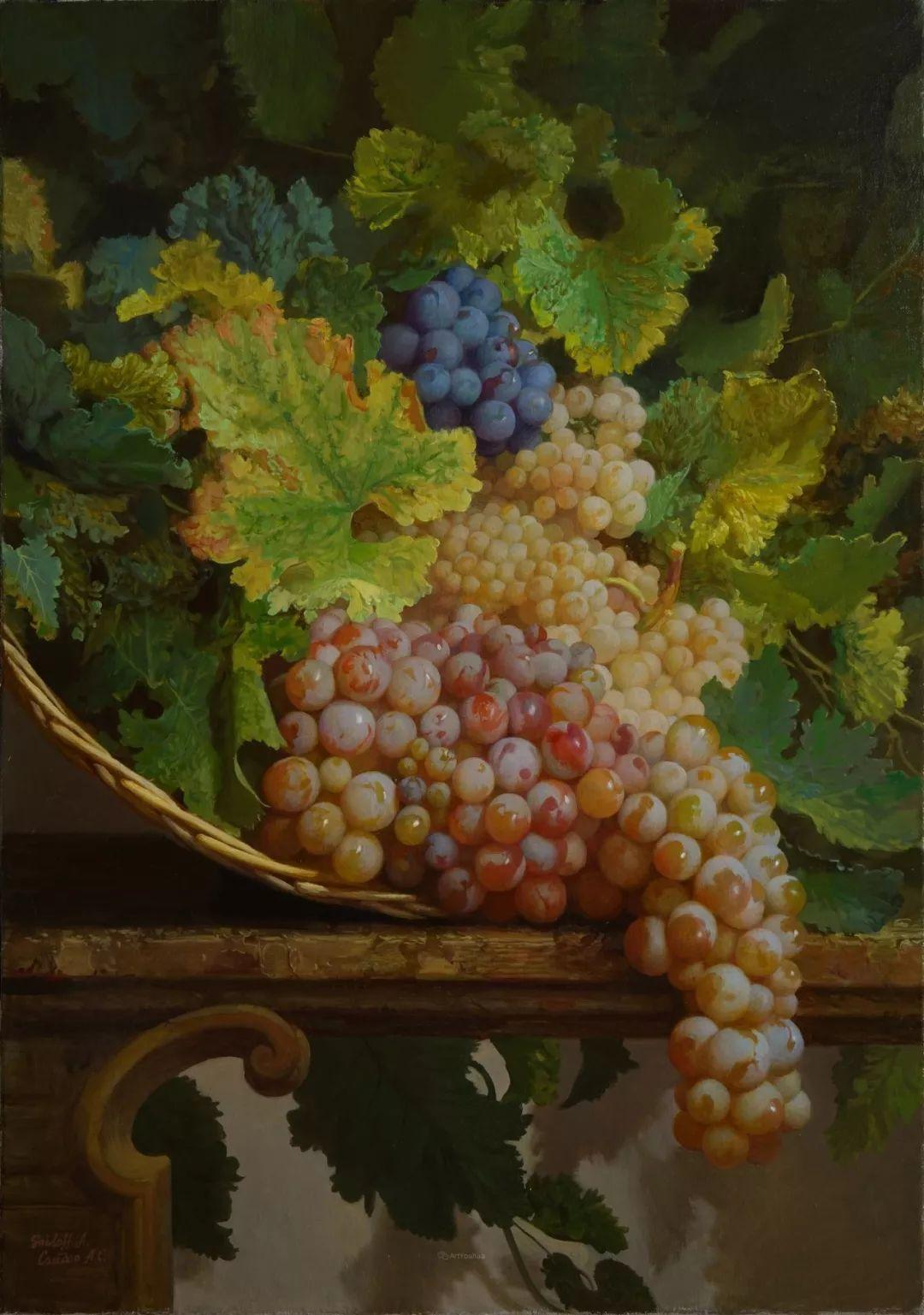 非常丰盛,静物水果!俄罗斯画家亚历山大·赛义多夫作品一插图26