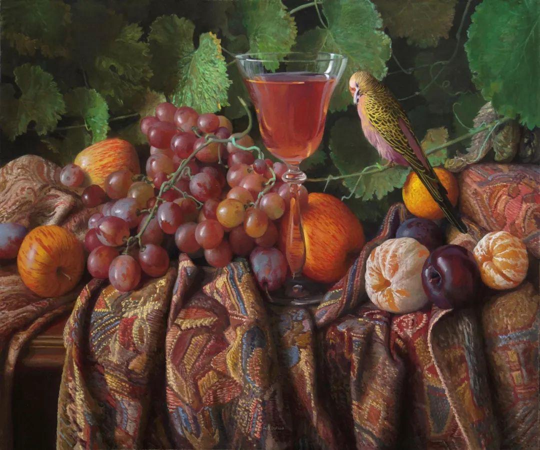 非常丰盛,静物水果!俄罗斯画家亚历山大·赛义多夫作品一插图29