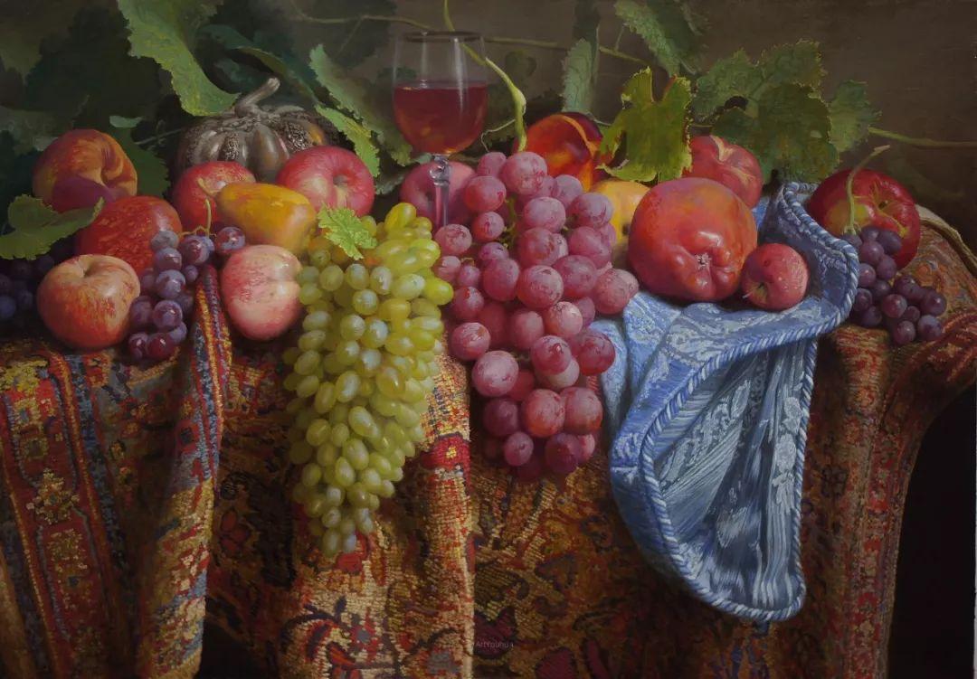 非常丰盛,静物水果!俄罗斯画家亚历山大·赛义多夫作品一插图30